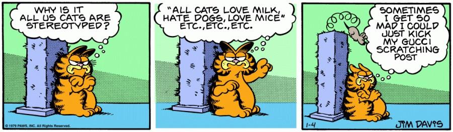 Оригинал комикса про Гарфилда от 04 января 1979 года