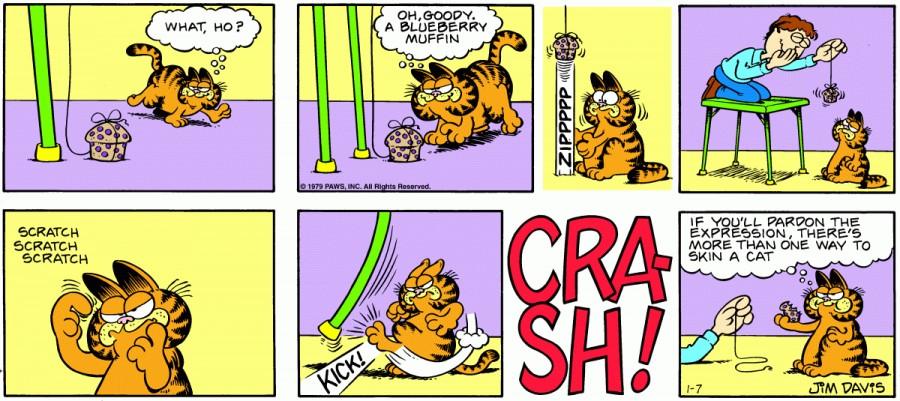 Оригинал комикса про Гарфилда от 07 января 1979 года