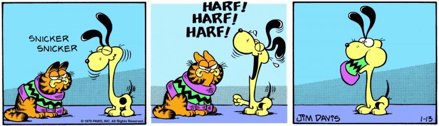 Оригинал комикса про Гарфилда от 13 января 1979 года