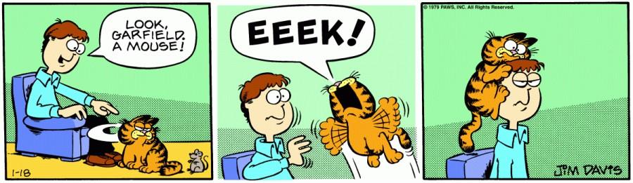Оригинал комикса про Гарфилда от 18 января 1979 года