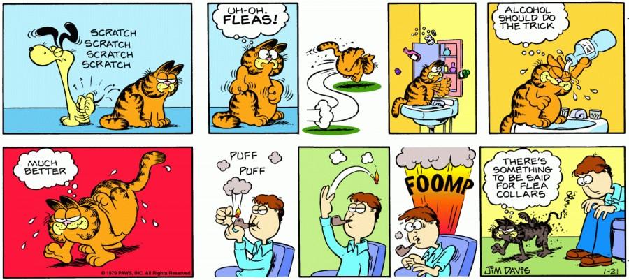 Оригинал комикса про Гарфилда от 21 января 1979 года