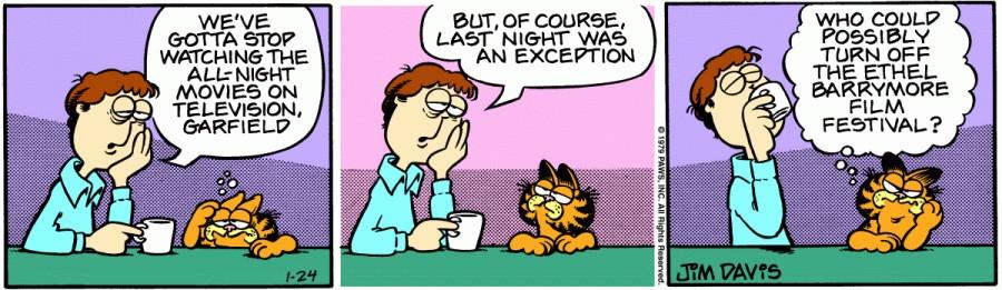 Оригинал комикса про Гарфилда от 24 января 1979 года