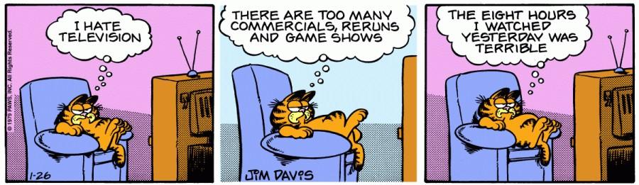 Оригинал комикса про Гарфилда от 26 января 1979 года
