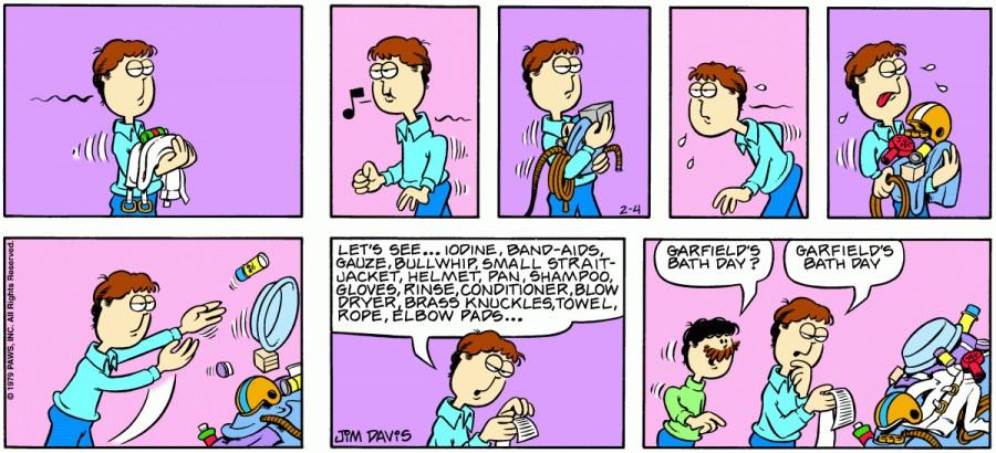 Оригинал комикса про Гарфилда от 04 февраля 1979 года