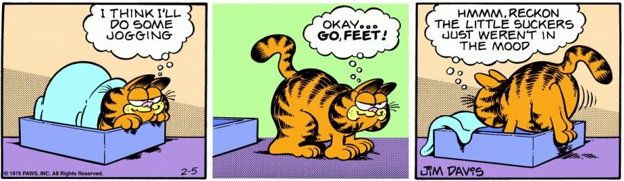 Оригинал комикса про Гарфилда от 05 февраля 1979 года