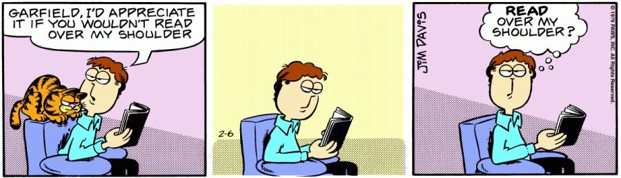 Оригинал комикса про Гарфилда от 06 февраля 1979 года