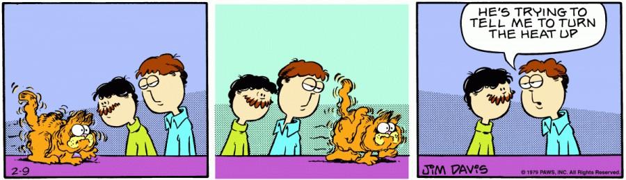 Оригинал комикса про Гарфилда от 09 февраля 1979 года
