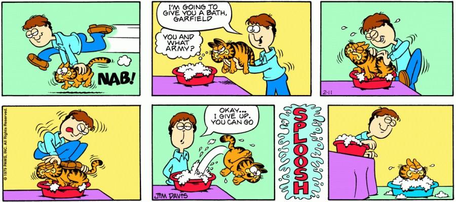 Оригинал комикса про Гарфилда от 11 февраля 1979 года