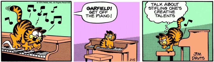 Оригинал комикса про Гарфилда от 15 февраля 1979 года