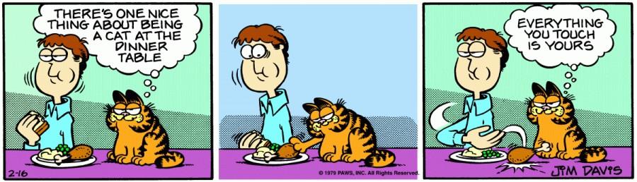 Оригинал комикса про Гарфилда от 16 февраля 1979 года