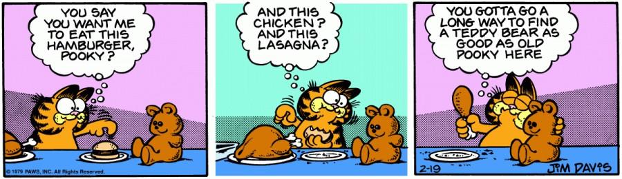 Оригинал комикса про Гарфилда от 19 февраля 1979 года
