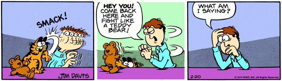 Оригинал комикса про Гарфилда от 20 февраля 1979 года