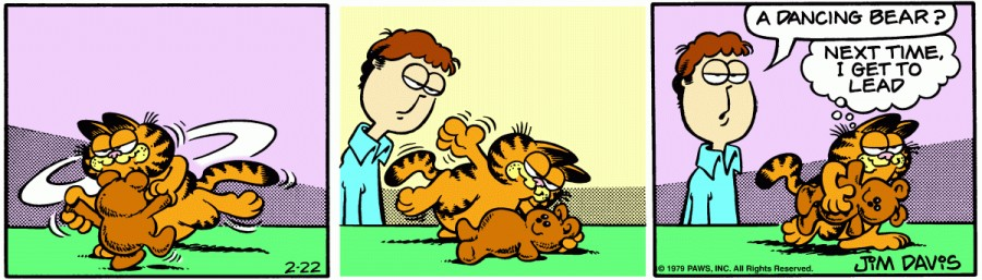 Оригинал комикса про Гарфилда от 22 февраля 1979 года