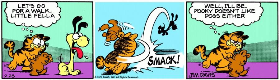 Оригинал комикса про Гарфилда от 23 февраля 1979 года