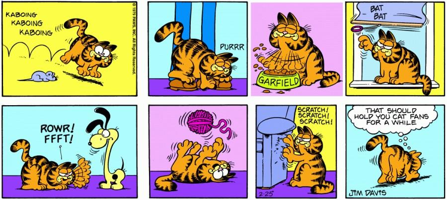 Оригинал комикса про Гарфилда от 25 февраля 1979 года