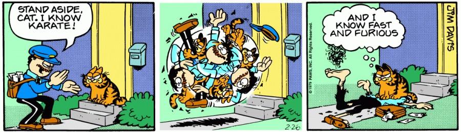 Оригинал комикса про Гарфилда от 26 февраля 1979 года
