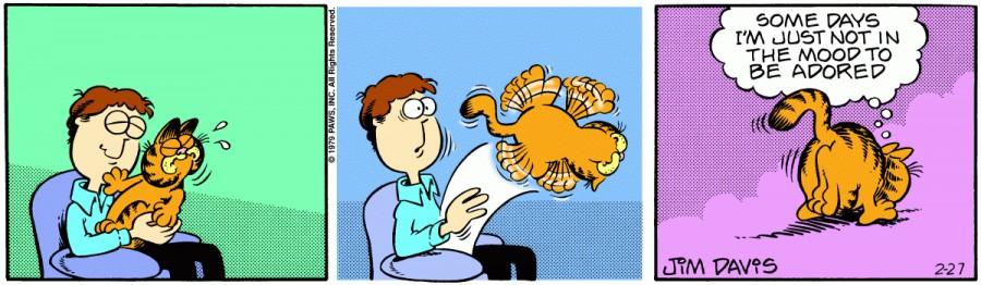Оригинал комикса про Гарфилда от 27 февраля 1979 года