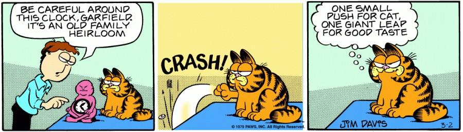 Оригинал комикса про Гарфилда от 02 марта 1979 года