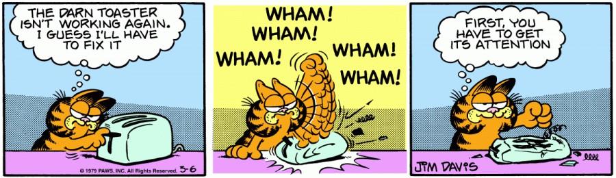 Оригинал комикса про Гарфилда от 06 марта 1979 года