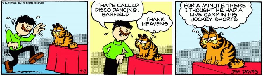 Оригинал комикса про Гарфилда от 08 марта 1979 года