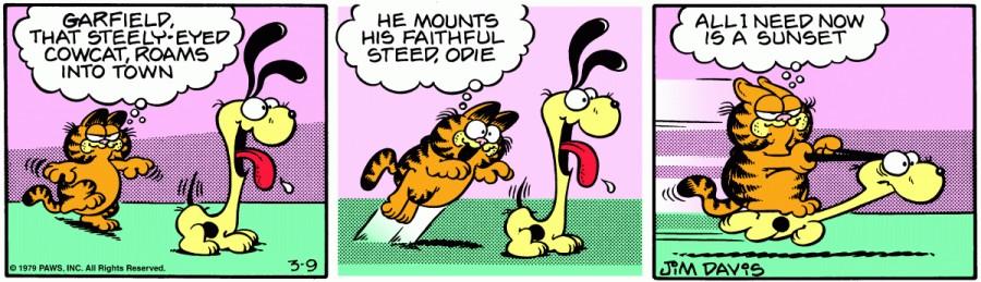 Оригинал комикса про Гарфилда от 09 марта 1979 года