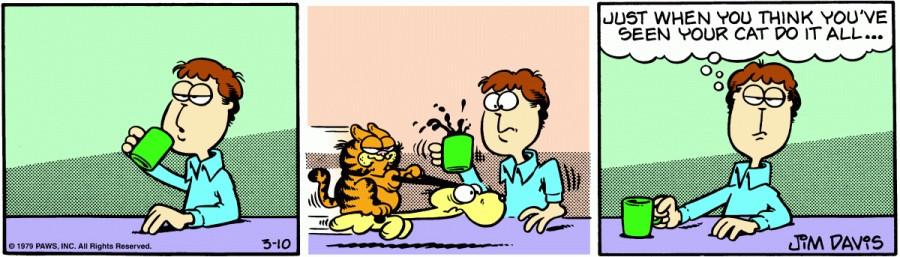 Оригинал комикса про Гарфилда от 10 марта 1979 года