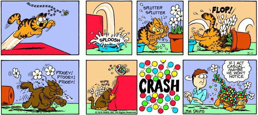 Оригинал комикса про Гарфилда от 11 марта 1979 года