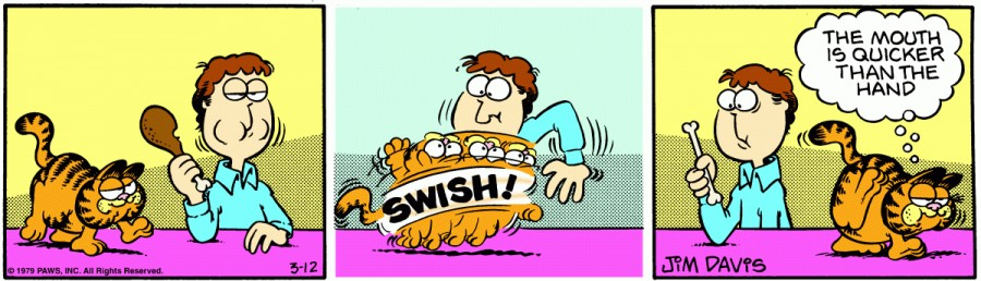 Оригинал комикса про Гарфилда от 12 марта 1979 года