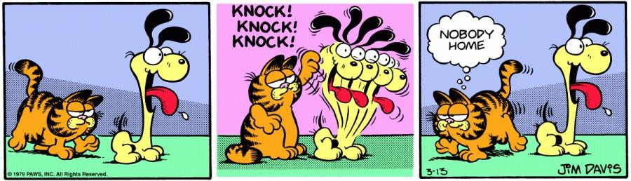 Оригинал комикса про Гарфилда от 13 марта 1979 года