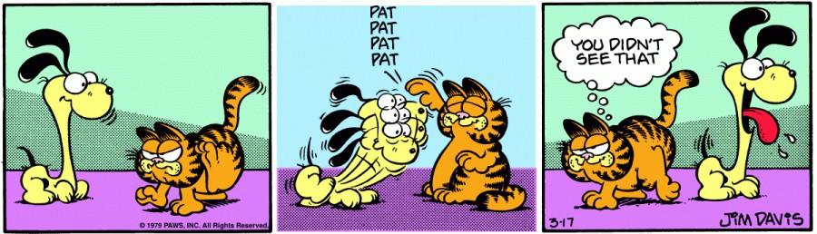 Оригинал комикса про Гарфилда от 17 марта 1979 года