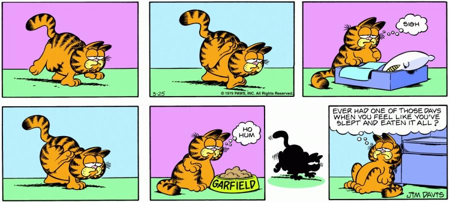 Оригинал комикса про Гарфилда от 25 марта 1979 года