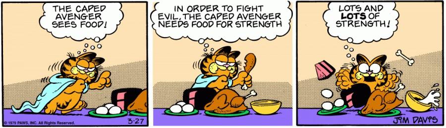 Оригинал комикса про Гарфилда от 27 марта 1979 года