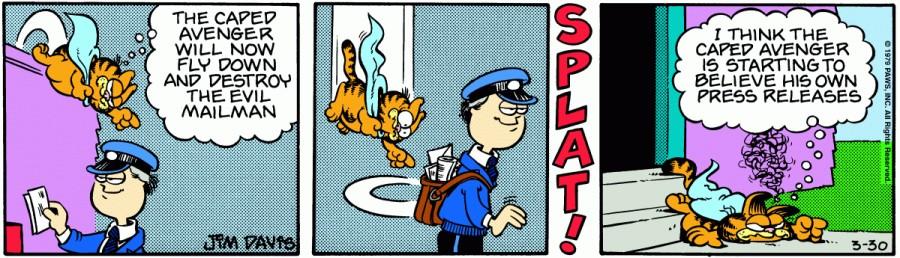 Оригинал комикса про Гарфилда от 30 марта 1979 года