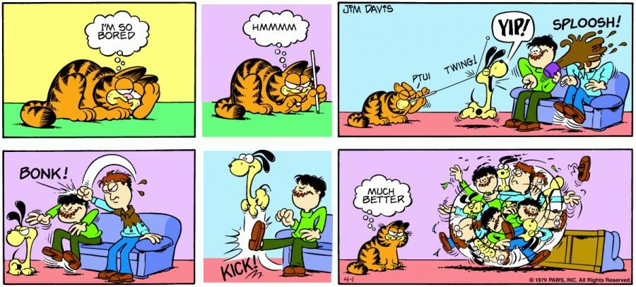 Оригинал комикса про Гарфилда от 01 апреля 1979 года