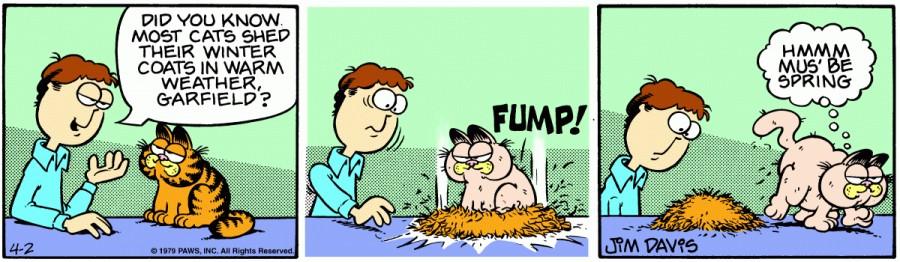 Оригинал комикса про Гарфилда от 02 апреля 1979 года