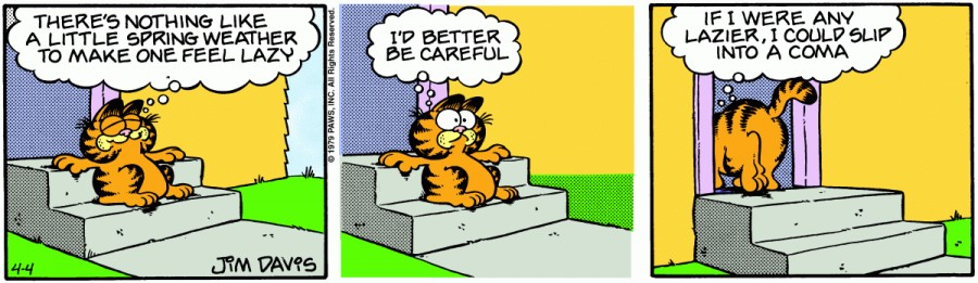Оригинал комикса про Гарфилда от 04 апреля 1979 года