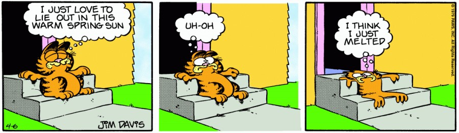 Оригинал комикса про Гарфилда от 06 апреля 1979 года