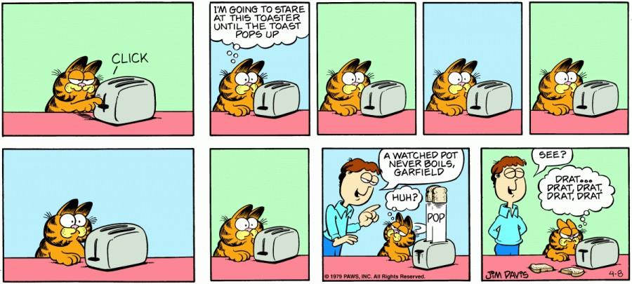 Оригинал комикса про Гарфилда от 08 апреля 1979 года