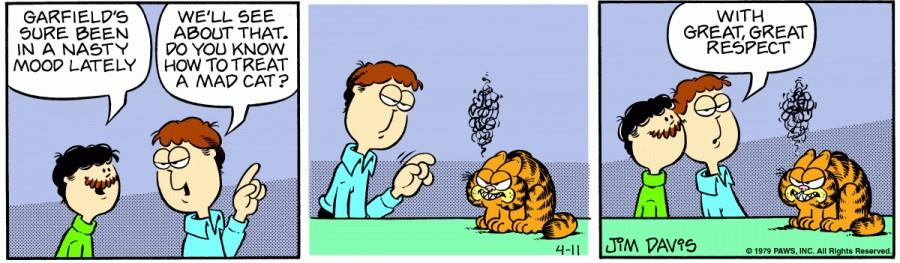 Оригинал комикса про Гарфилда от 11 апреля 1979 года