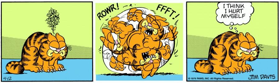 Оригинал комикса про Гарфилда от 12 апреля 1979 года