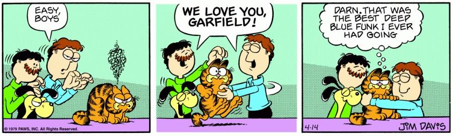 Оригинал комикса про Гарфилда от 14 апреля 1979 года