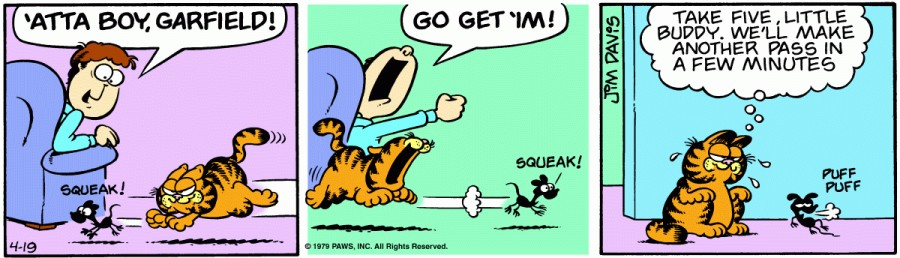 Оригинал комикса про Гарфилда от 19 апреля 1979 года