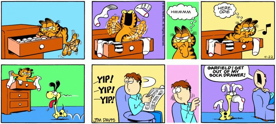 Оригинал комикса про Гарфилда от 22 апреля 1979 года