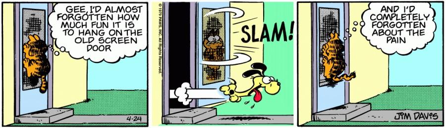 Оригинал комикса про Гарфилда от 24 апреля 1979 года