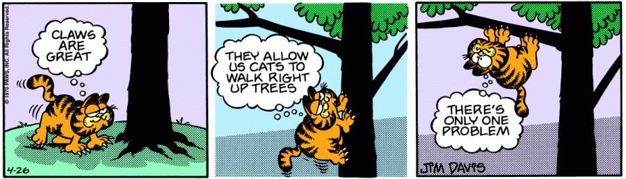 Оригинал комикса про Гарфилда от 26 апреля 1979 года