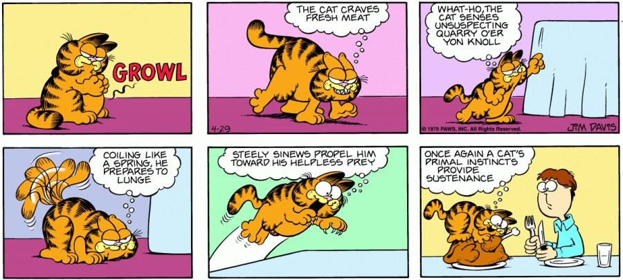 Оригинал комикса про Гарфилда от 29 апреля 1979 года