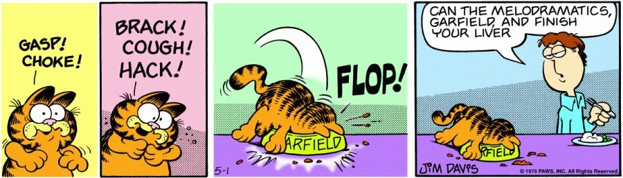 Оригинал комикса про Гарфилда от 01 мая 1979 года