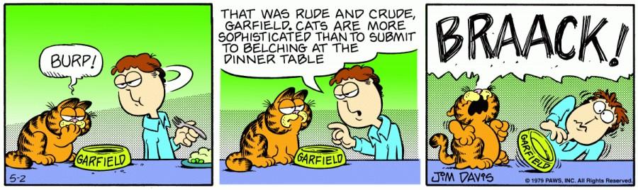 Оригинал комикса про Гарфилда от 02 мая 1979 года