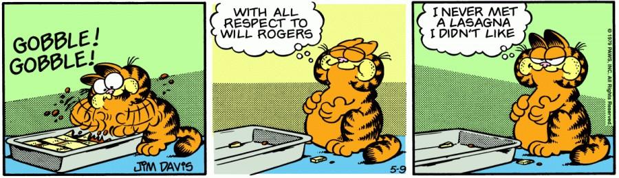Оригинал комикса про Гарфилда от 09 мая 1979 года