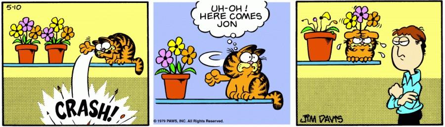 Оригинал комикса про Гарфилда от 10 мая 1979 года